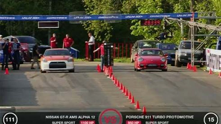 แข่งทางตรง Nissan GT-R 1,100 แรงม้า ปะทะ Porsche 911 Turbo 950 แรงม้า