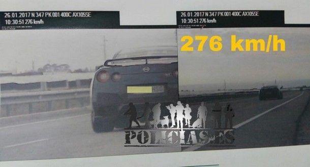 จับจริง ยึดจริง !! เมื่อ Nissan GT-R ทำความเร็วเกินรีมิตบน ไฮเวย์ สเปน งานนี้โดนยึดทั้งทะเบียนรถและใบขับขี่