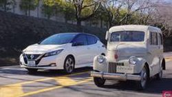 Nissan อวดโฉมรถพลังงานไฟฟ้ารุ่นแรกเริ่มและรุ่นล่าสุด ตอกย้ำตำแหน่งผู้นำ
