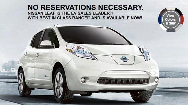 """Nissan แหย่ Tesla ปล่อยโฆษณา """"ซื้อ Leaf ได้เลย ไม่ต้องพรีออร์เดอร์"""""""