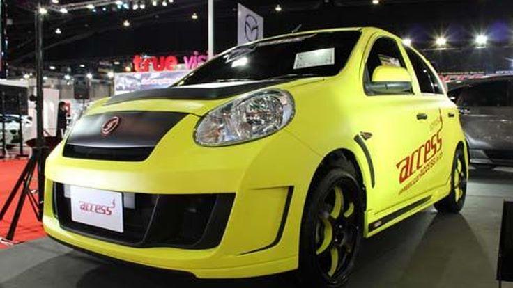 Nissan March 2012 แต่งสปอร์ตรอบคัน สุดเปรี้ยวในงาน Bangkok Auto Salon 2012