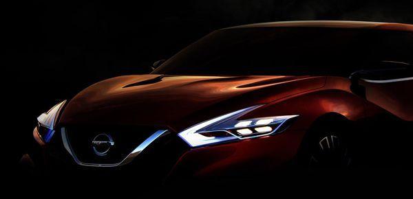"Nissan ปล่อยภาพทีเซอร์ ""สปอร์ตซีดาน"" รุ่นต้นแบบ จ่ออวดโฉมที่ดีทรอยท์"