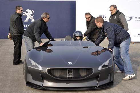 Peugeot EX1 Concept ทดสอบสมรรถนะบนสนามจริงที่จีน ทำลายสถิติตัวเองเป็นว่าเล่น