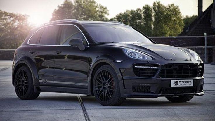 โมดิฟายด์ Porsche Cayenne ดำดุออกแนวก้าวร้าวโดย Prior Design