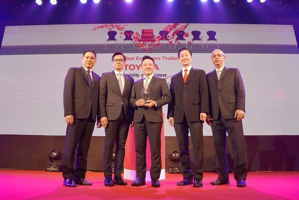 [PR News] โตโยต้า บริษัทรถยนต์รายเดียวรับรางวัล สุดยอดนายจ้างดีเด่น 3 ปีซ้อน