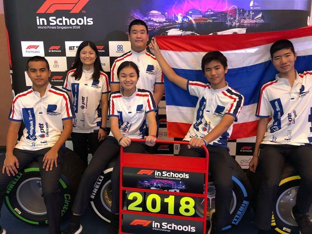 """เยาวชนไทยสุดเจ๋ง คว้าทีมที่ดีที่สุดจากเอเชีย จากการแข่งขัน """"F1 In Schools World Finals 2018"""""""