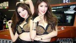 สองสาวสวยสุดแสบ แก่นเซี้ยว ที่เรายกให้เป็นที่สุดของสาวฮอตในงานบิ๊ก มอเตอร์ เซลล์