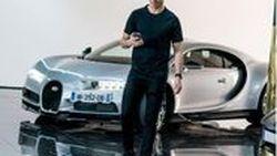 """""""คริสเตียโน โรนัลโด้"""" ยิ้มถูกใจหลังได้ทดสอบไฮเปอร์คาร์ Bugatti Chiron"""