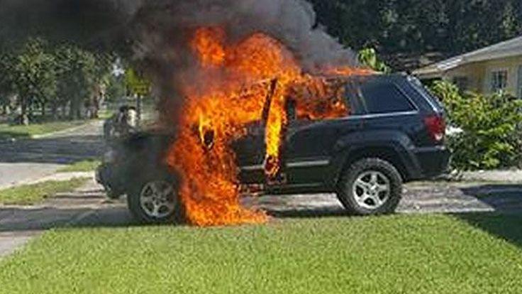 """หนุ่มอเมริกันอ้าง """"Samsung Galaxy Note 7"""" ระเบิดตูม ทำรถ Jeep พังเละ"""