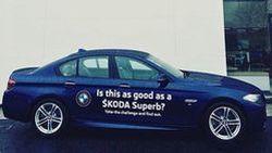 ดีลเลอร์ Skoda ให้ทดสอบ BMW 5-Series เปรียบเทียบ Superb