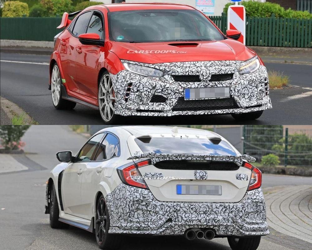 [สปายช็อต] 2019 Honda Civic Type R ปรับโฉมหน้าท้ายใหม่ พร้อมตัวเลือกสปอย์เลอร์ท้ายใหม่