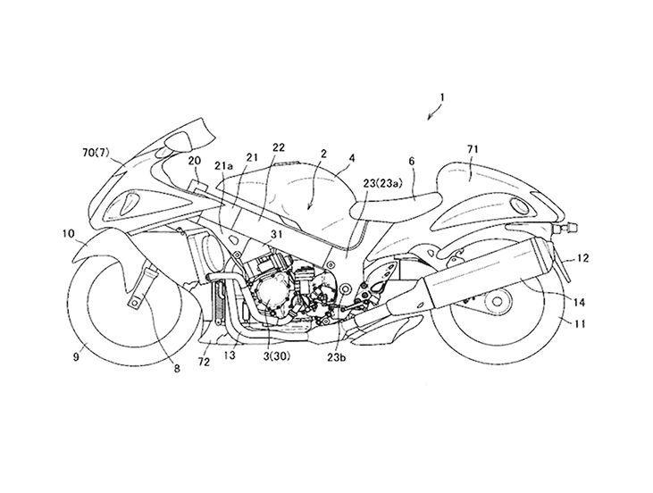 Suzuki จดสิทธิบัตรเกียร์กึ่งอัตโนมัติใน Hayabusa