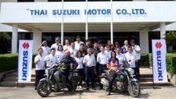 สื่อมวลชนจากประเทศอินเดีย เดินสายพิสูจน์สมรรถนะรถจักรยานยนต์ ซูซูกิ จากประเทศอินเดียสู่ประเทศไทย