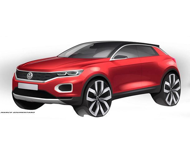 อีกหนึ่งทีเซอร์ 2018 Volkswagen T-Roc สัดส่วนเน้นความเซ็กซี่