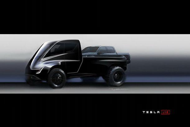 Tesla ส่งภาพทีเซอร์แรก รถกระบะพลังงานไฟฟ้ารุ่นใหม่