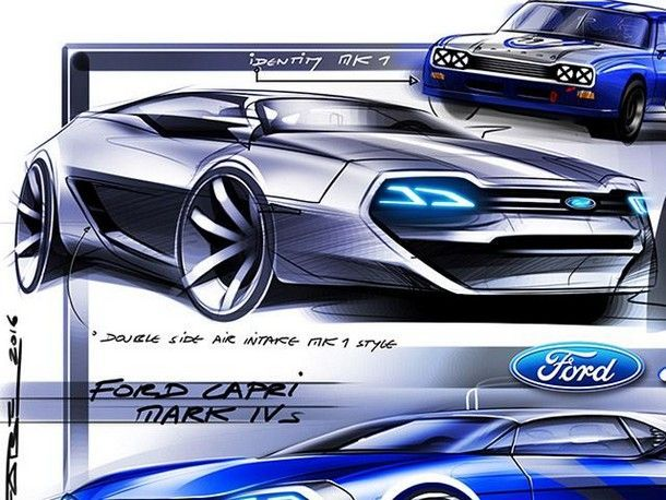 Ford Capri Concept สปอร์ตคาร์รุ่นใหม่ ที่อาจมาแทนที่ มัสเซิลคาร์ในตำนานอย่าง Mustang