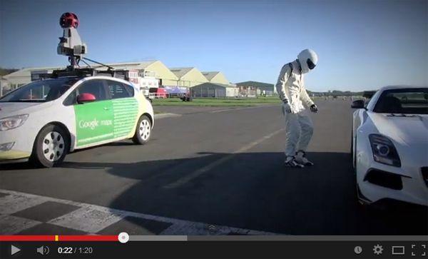 "The Stig ""ช่วย"" Google บันทึก Street View สนามทดสอบ Top Gear"