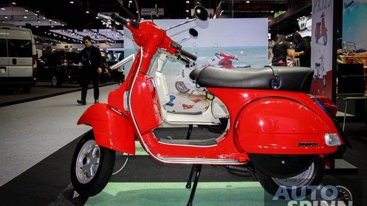 [TIME2016] ผ่านครึ่งทาง Vespa ครองอันดับ 1 แบรนด์รถจักรยานยนต์ที่มียอดจองสูงสุด Motor Expo 2016