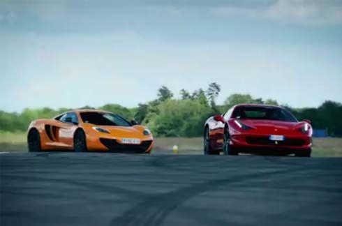 Top Gear พิสูจน์ McLaren MP4-12C ทำเวลาต่อรอบได้ดีกว่า Ferrari 458 Italia