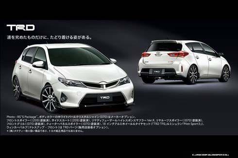 เผยโฉม Toyota Auris Hatchback JDM พร้อมชุดแต่ง TRD และ Modellista