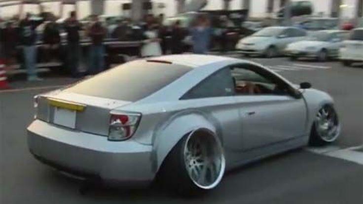Toyota Celica โชว์ล้อมุมแคมเบอร์ลบสุดๆที่งาน 2012 Nagoya Exciting Car Showdown