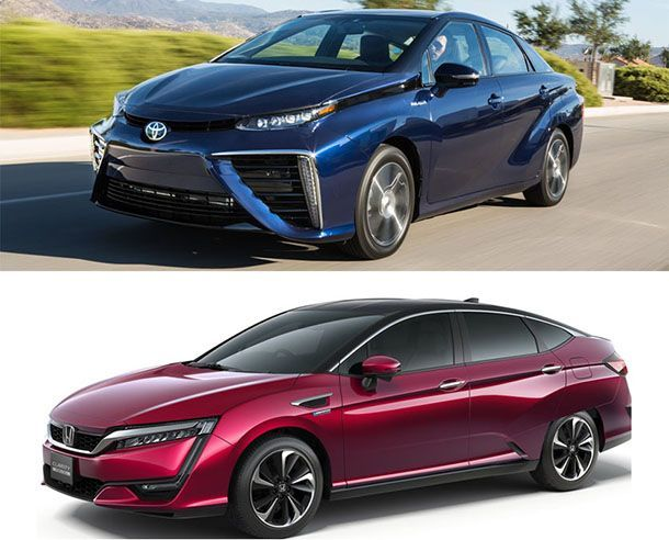 เทียบสเปกรถไฮโดรเจนฟิวเซล Toyota Mirai VS Honda Clarity