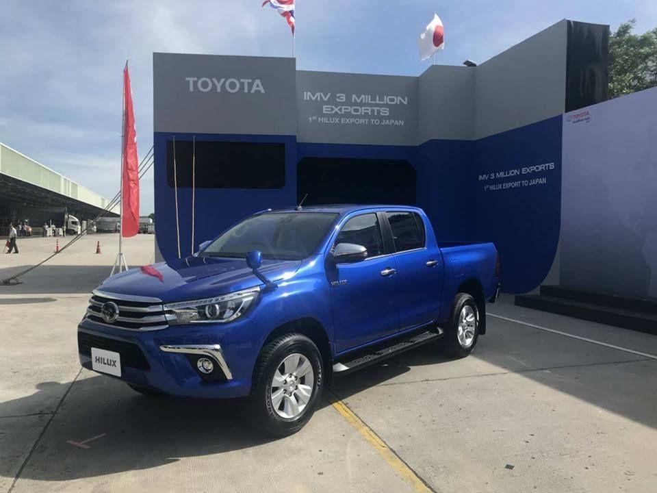Toyota เริ่มส่งออกกระบะไฮลักซ์ไปญี่ปุ่นเดือนละ 300 คัน คาดอนาคตขยายตลาดได้อีก