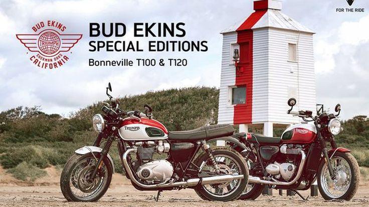 Triumph เปิดตัว Bonneville T120 Bud Ekins และ Bonneville T100 Bud Ekins สเปเชี่ยล อิดิชั่น