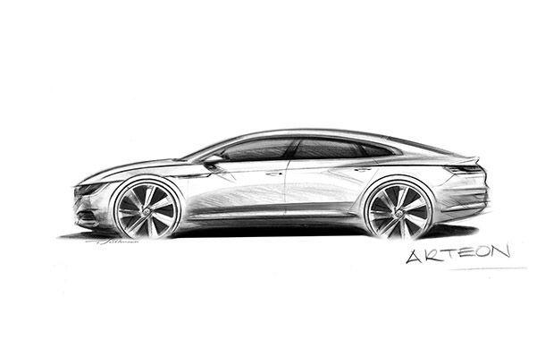 "Volkswagen เผยภาพทีเซอร์สเก็ตช์ ""Arteon"" แทนที่ CC"