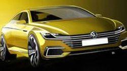 เปิดภาพสเก็ตช์ Volkswagen CC รถซีดานสุดสปอร์ตรุ่นต้นแบบ