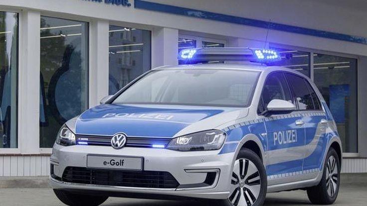Volkswagen e-Golf รถตำรวจพลังไฟฟ้าเป็นมิตรกับสิ่งแวดล้อม