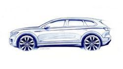 ชมทีเซอร์สเก็ตช์ Volkswagen Touareg เจนเนอเรชั่นที่สาม ก่อนเปิดตัวเดือนมีนาคม