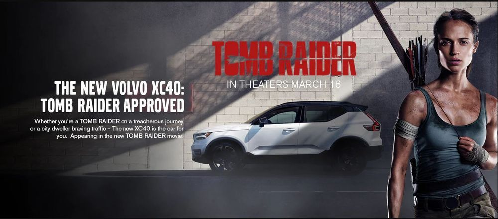 ผจญภัยไปกับ Lara Croft และ Volvo XC40 ใน Tomb Raider