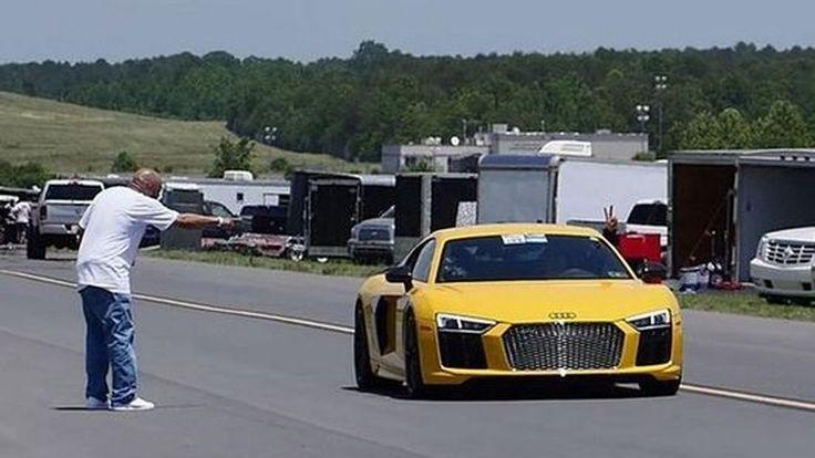 [ชมคลิป] ทุบสถิติโลกการทำความเร็วครึ่งไมล์อีกครั้ง กับ Audi R8 พลัง 1,250 แรงม้า จากสำนัก Underground Racing