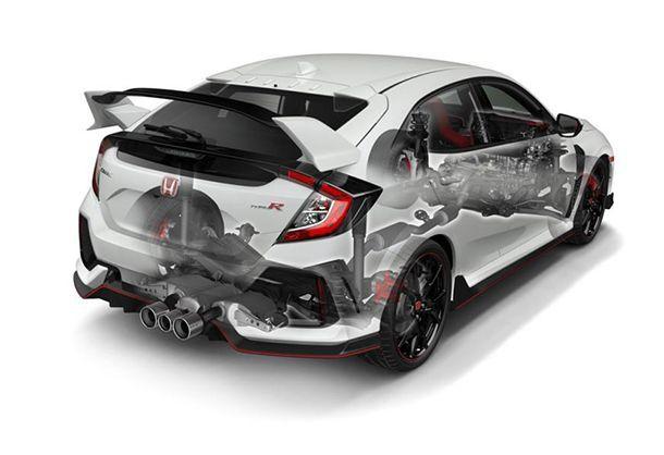 เปิดคำตอบ ทำไม Honda Civic Type R ถึงมีท่อไอเสีย 3 ชุด