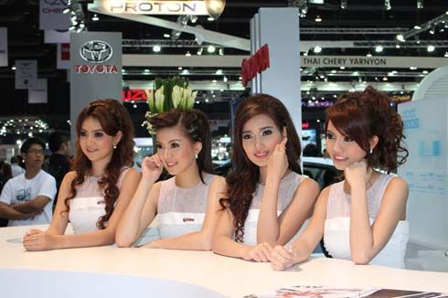 ทิ้งท้าย! ภาพพริตตี้มอเตอร์โชว์ในงาน Bangkok International Motor Show ปีนี้