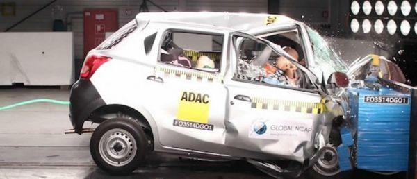 อึ้ง Datsun Go รถราคาประหยัดคว้า 0 ดาว ทดสอบการชน