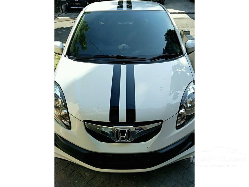 jual mobil honda brio 2013 sports e 1 3 di jawa barat manual hatchback putih rp. Black Bedroom Furniture Sets. Home Design Ideas
