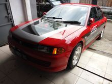 1995 Mitsubishi Lancer MT,red, mulusss, audio mantap, JDM style, Harga Nego