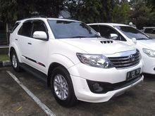 Toyota Fortuner 2.5G VNT TRD Sportivo 2013AT Putih Istimewa Cash/Kredit TDP 20jtan