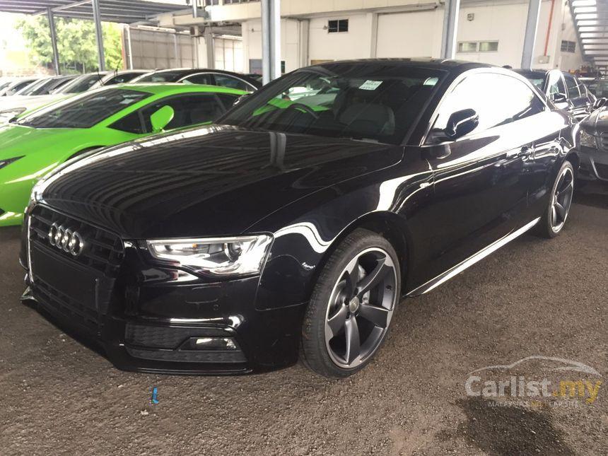 black audi a5 2013. 2013 audi a5 tfsi quattro s line coupe black carlistmy
