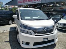 2014 TOYOTA VELLFIRE 8-SEATER 2-POWER DOOR 2.4cc JAPAN SPEC UNREG **TRADE IN AVAILABLE**, **TIPTOP CONDITION LOW MILEAGE**, **HIGH LOAN LOW INTEREST**