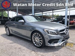 2018 Mercedes-Benz C200 AMG Coupe 2.0 Turbo Panoramic Roof Keyless Go Push Start Button Full LED Headlamp Memory Seats Power Boot Paddle Shift Unreg