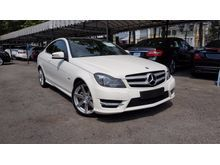 2012 Mercedes-Benz C250 1.8 BlueEFFICIENCY Coupe AMG Panoramic Roof