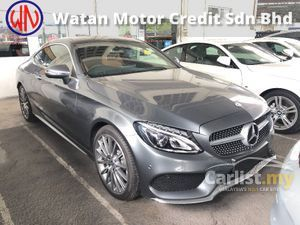 2017 Mercedes-Benz C300 AMG Coupe Full Spec 2.0 Turbo 241hp Panoramic Roof Keyless Go Push Start Burmester 3D Surround Memory Seats Paddle Shift Unreg