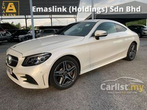 2019 Mercedes-Benz C300 2.0 AMG Coupe Newfacelift Unregister MultiBeam LED Lights 251hp 9Speed Ambient Light 2Years Warranty Price Negotiable