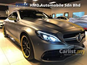 2016 Mercedes-Benz C63 AMG 4.0 S Ediiton 1 - UNREG - 0% SST - JAPAN MERCEDES-BENZ CERTIFIED CARS - PUSH START -