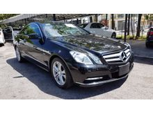 2012 Mercedes-Benz E250 1.8 Coupe 7G Keyless Push Start Unreg