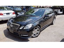 2012 Mercedes-Benz E250 1.8 Sedan AMG 7G Panoramic Roof Full Spec Unreg