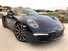 2014 Porsche 911 3.8 Carrera 4S Coupe C4S 991 BEIGE COLOR INTERIOR SPORT CHRONO PLUS PACKAGE SPORT EXHAUST SUNROOF UNREGISTER INCLUDED GST OFFER PRICE